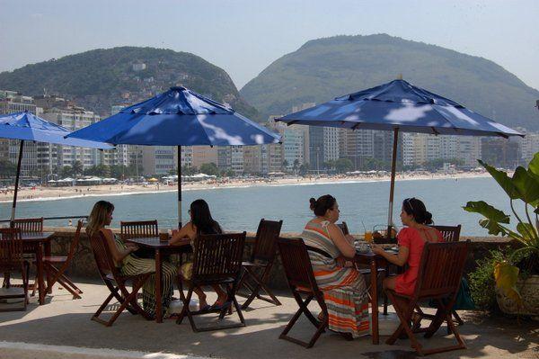 Terraza de la Confiteria Colombo en el Fuerte de Copacabana rio de janeiro