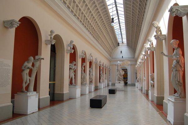 Galería de reproducciones de escultura antigua Museo Nacional de Bellas Artes Rio de Janeiro
