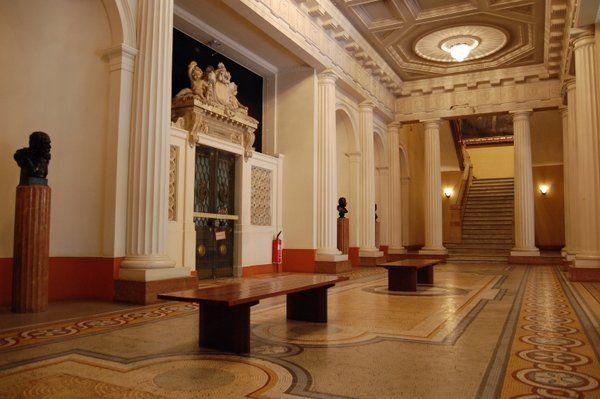 Vestívulo de la primera planta Museo Nacional de Bellas Artes Rio de Janeiro