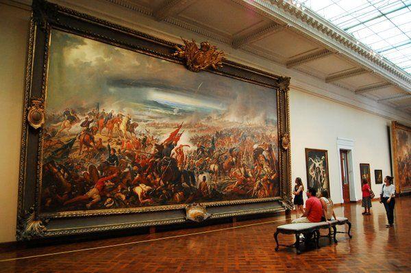 """La Batalla de Avaí"" de Pedro Américo Museo Nacional de Bellas Artes Rio de Janeiro"