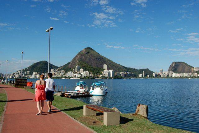 Paseo en el centro de ocio Lagoon Laguna Rodrigo de Freita Rio de Janeiro