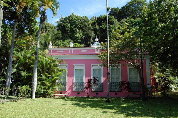 Una de las mansiones de estilo colonial que aún se pueden ver en Paqueta Isla de Paqueta Rio de Janeiro