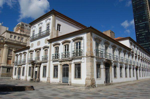 Fachada principal del Palacio Imperial Rio de Janeiro