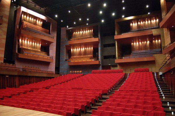Vista de la Gran Sala Teatro Ciudad de las Artes Barra de Tijuca Rio de Janeiro