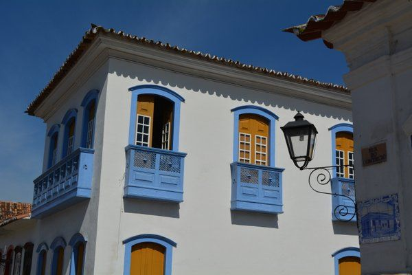 Balcones típicos de las casas de Paraty Rio de Janeiro