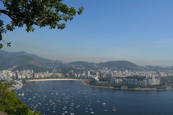 La ensenada de Botafogo vista desde el morro de Urca Playa de Botafogo Rio de Janeiro