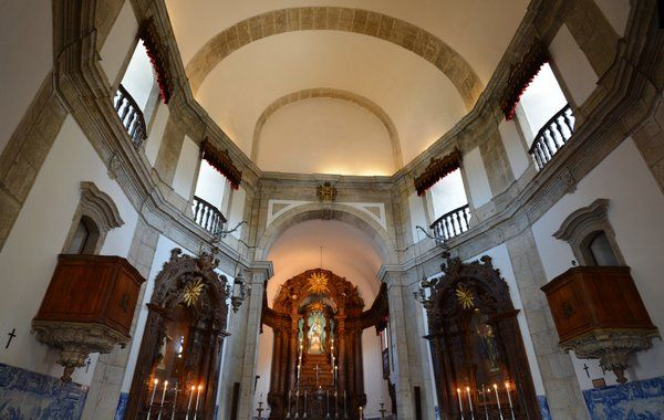 Interior de la iglesia Outeiro da Gloria Rio de Janeiro