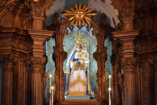 Imagen de la Virgen Nuestra Señora da Gloria Iglesia Outeiro da Gloria Rio de Janeiro