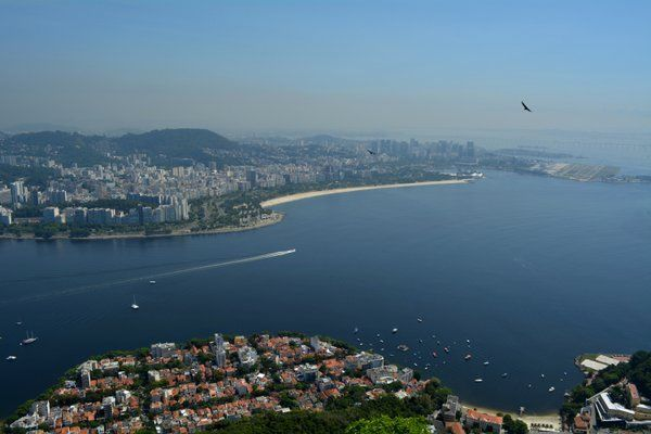 Vista de la playa de Flamengo desde el morro de Urca Rio de Janeiro