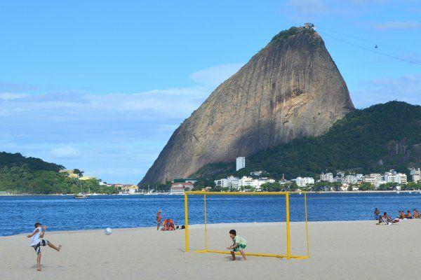 Fútbol en playa de Flamengo Rio de Janeiro