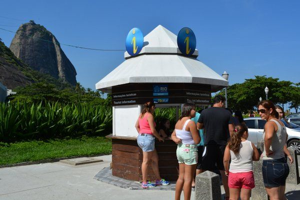 Puesto de información turística de Playa Vermelha Informacion turistica en rio de janeiro