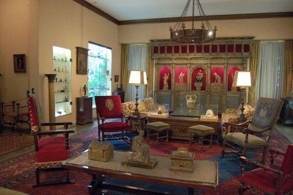 El salón principal Casa Museo Eva Klabin Rio de Janeiro