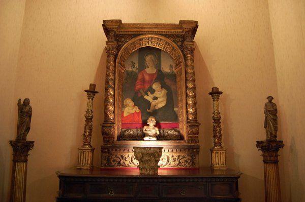 Madonna con Niño atribuida al taller de Botticelli Casa Museo Eva Klabin Rio de Janeiro