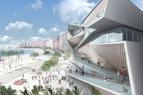 Vista sobre Copacabana MIS Museo de la Imagen y el Sonido de Rio de Janeiro