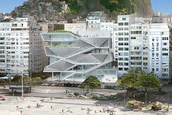 Vista de la fachada del MIS rio Museo de la Imagen y el Sonido de Rio de Janeiro