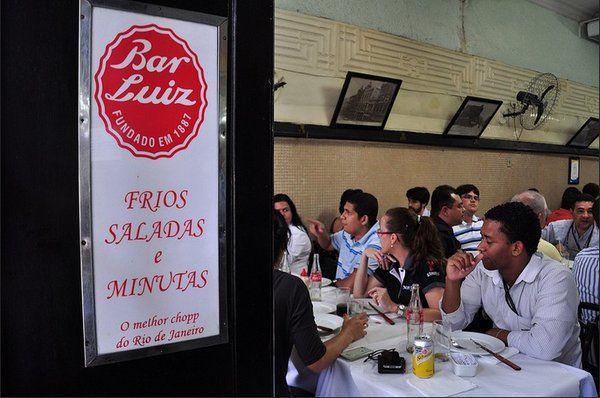 Bar Luiz restaurantes en el centro de Rio de Janeiro