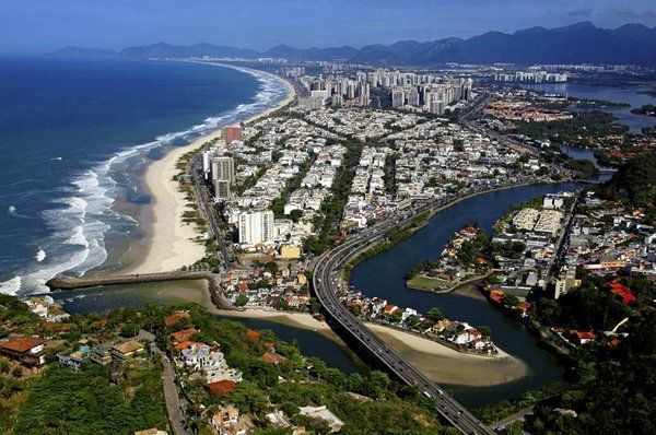 Vista aérea de Barra da Tijuca alojamiento en barra da tijuca rio de janeiro