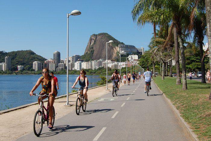 ciclismo rio de janeiro ciclistas en Laguna Rodrigo de Freitas