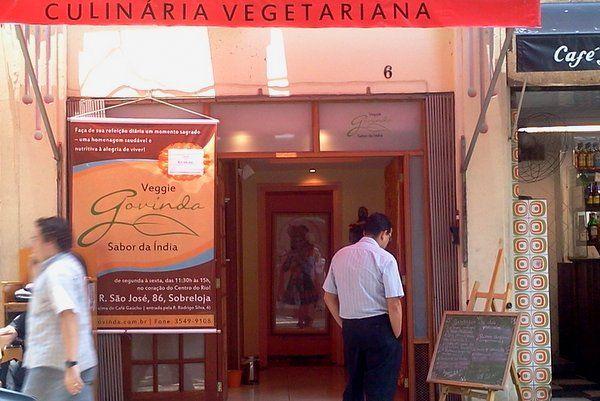 govinda restaurantes en el centro de Rio de Janeiro