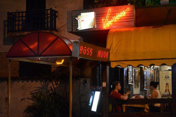 Entrada del Bar Vinicius Musica en vivo en Rio de Janeiro