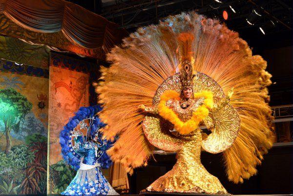 Fantasías de carnaval en Plataforma Show Espectaculos de samba Rio de Janeiro
