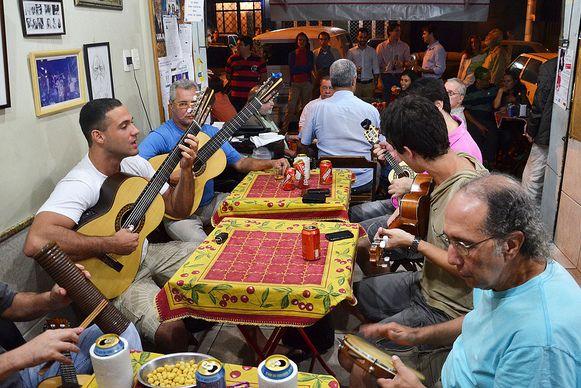 Samba da mesa en el Bip Bip Musica en vivo en Rio de Janeiro