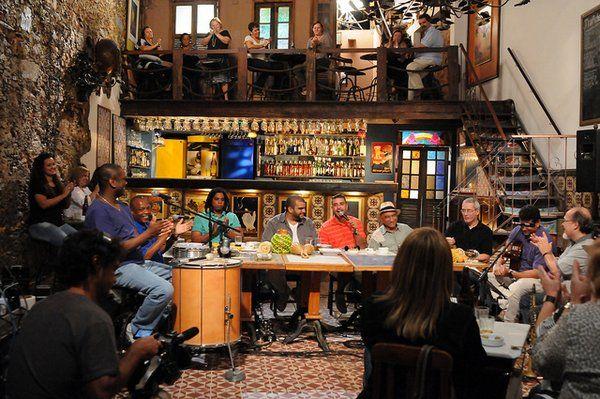 Samba da mesa en Trapiche Gamboa Musica en vivo en Rio de Janeiro