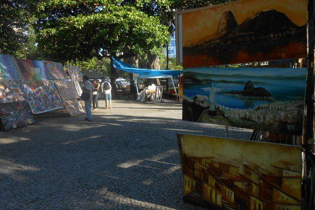 pinturas a la venta en la feria de ipanema rio de janeiro