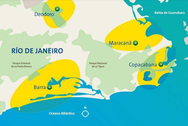 zonas de rio de janeiro donde estan las sedes olimpicas juegos olimpicos 2016 rio de janeiro