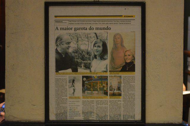 Artículo peridístico sobre la historia de La Chica de Ipanema rio de janeiro
