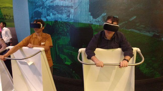 museo ciudad olimpica Simulador de vuelo con gafas de realidad virtual Foto: Rio 2016/Saulo Pereira Guimarães)