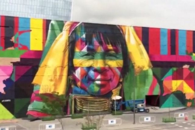 etnias la pintura mural más grande del mundo