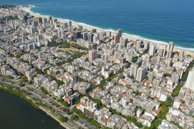Vista aérea de los edificios de Ipanema