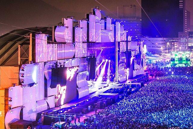 Palco Mundo es el escenario principal de Rock in Rio Rio de Janeiro Brasil